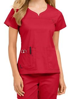 Med Couture MC2 Lexi Notch Neck Scrub Tops Cute Nursing Scrubs, Vet Scrubs, Medical Scrubs, Nursing Clothes, Scrubs Outfit, Scrubs Uniform, Stylish Scrubs, Scrub Tops, Work Wear