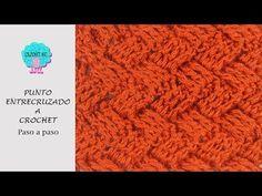 Tutorial punto entrecruzado en plano y circular a crochet - YouTube