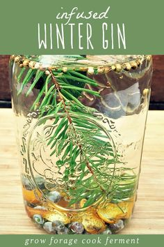 By GrowForageCookFerment, inspired by a recipe in Emily Han's book Wild Drinks and Cocktails titled Winter Gin. just in time for the holidays, here is how to make infused winter gin. Homemade Alcohol, Homemade Liquor, Flavoured Gin, Infused Vodka, Vodka Tonic, Gin Recipes, Alcohol Recipes, Cocktail Recipes, Recipies
