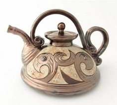 ceramic teapot pottery tea pots teapot ceramic art by Avanturine