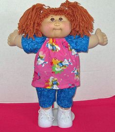 Cabbage Patch Doll Clothes 16 inch doll Smurfette by Dakocreations, $15.50