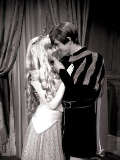 """Well, I'm really not supposed to speak to strangers, but we've met before."" Princess Aurora, Sleeping Beauty, Prince Phillip, disney couples"