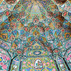 104 Mesmerizing Mosque Ceilings That Highlight The Wonders Of Islamic Architecture Islamic Architecture, Amazing Architecture, Art And Architecture, Beautiful Mosques, Moroccan Pattern, Iron Work, Mosaic Tiles, Mosaics, Sacred Art