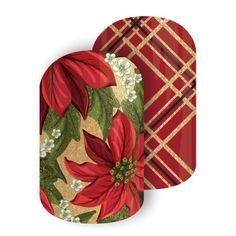 Jamberry: Tinsel Poinsettia. Fun for holidays; might get a half wrap. Plaid might look cool under Black Victorian Lace.