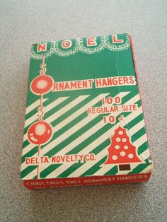 Vintage Christmas Ornament Hangers Box...I believe my parents still have this one. I know they had it when we were kids. =)