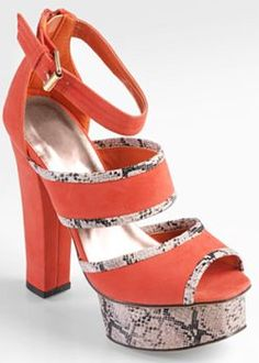 Journee Collection Peep-Toe Platform High Heels