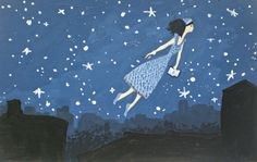 Flying Girl and the Night of Brooklyn Poetry or by rowenamurillo  This woman's work is exquisite. See more at etsy.com