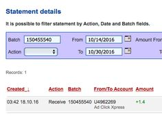 ACX is the MOST POWERFUL & SIMPLEST PROGRAM ONLINE! New 30/70 Rule GUARANTEES... Here is my Withdrawal Proof from AdClickXpress. I get paid daily and I can withdraw daily. Online income is possible with ACX, who is definitely paying - no scam here.I WORK FROM HOME less than 10 minutes and I manage to cover my LOW SALARY INCOME. https://www.facebook.com/photo.php?fbid=323922781317428&set=a.151044818605226.1073741828.100010991251641&type=3&theater