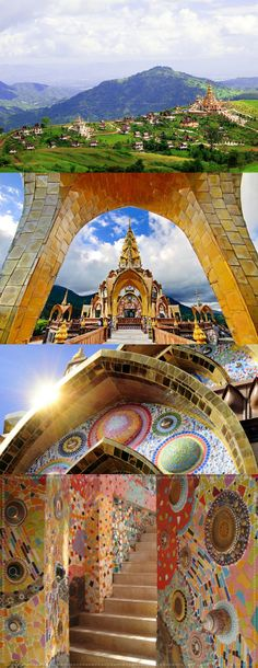 Wat Phra Dhat Phasornkaew at Phetchabun in thailand