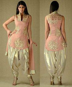 Georgette In Kurta & Dupatta, Simar In Dhoti Salwar Salwar Designs, Kurti Designs Party Wear, Blouse Designs, Ethnic Wear Designer, Indian Designer Outfits, Designer Dresses, Designer Salwar Suits, Pakistani Dresses, Indian Dresses