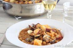 la cocina de aficionado: Garbanzos con bacalao, pulpo y almejas