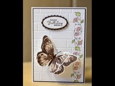 Watercolour Wings Card & Team Training Swap - JanB UK Stampin' Up! Demonstrator Independent - YouTube