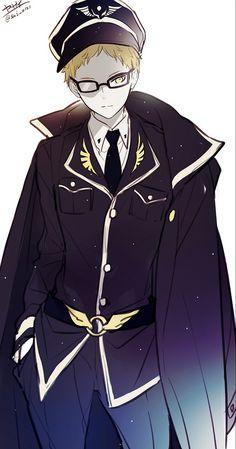 Tsukishima Kei (Haikyuu!!) in Military Uniform by Yasai