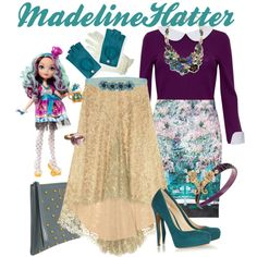 Ever After High: Madeline Hatter by lauren-renee-taylor on Polyvore featuring Alice + Olivia, Michael Kors, Mary Katrantzou, Nicholas Kirkwood, Marc Jacobs, White House Black Market, Chanel, Accessorize, Just For You and L. Erickson