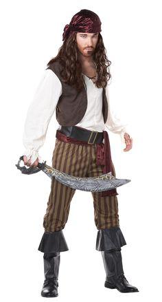 Pirat Piratin Geister Ghost Lumpen Damen Herren Kostüm Halloween Karneval NEU