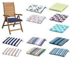 Gardenista Gold Edition Garden Chair Seat Cushion Pads Waterproof Outdoor Patio