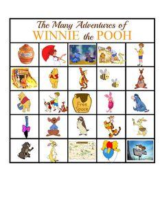 The Many Adventures of Winnie the Pooh BINGO Game   Sweet Tea & Saving Grace