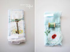 cute gift idea: vintage hankies & an object