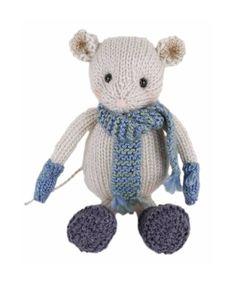 Go Handmade Luis the Mouse knitting kit & pattern #knitted #knitting #craft #make #kit #gift #craft