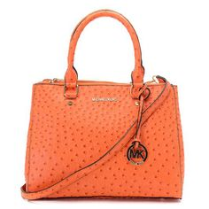 Michael Kors Ostrich-Embossed Large Orange Totes.More than 60% Off, I enjoy these bags.It's pretty cool (: JUST CLICK IMAGE~ | See more about michael kors, michael kors outlet and outlets.