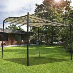 Buy Canopy Metal Wall Gazebo Awning Garden Shelter Door Porch 3m x 3m |Homcom