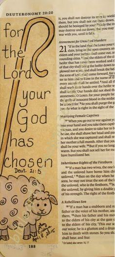 Easy Bible Art Journaling Journey: Deuteronomy (April -- the Lord is my shepherd Bible Prayers, Bible Scriptures, Bible Quotes, Bible Drawing, Bible Doodling, Drawing Quotes, Drawing Ideas, Bible Study Journal, Art Journaling
