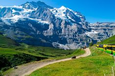you can take a panoramic train to the tallest train station of all of Europe: the Jungfraujoch,
