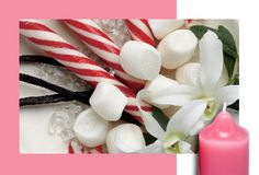 NEW! Marshmallow Peppermint    As sweet as a childhood memory.  Marshmallow and peppermint create a mouthwatering treat. #PartyLite #JustDesserts