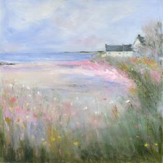 Sue Fenlon is an artist who paints the Northumberland countryside. Sue is a regular exhibitor at the Living North Fairs, and this Christmas is no exception. She will again be joining us at our New… Flower Landscape, Watercolor Landscape, Landscape Art, Landscape Paintings, Watercolor Paintings, Watercolour, Seascape Paintings, Pastel Art, Local Artists