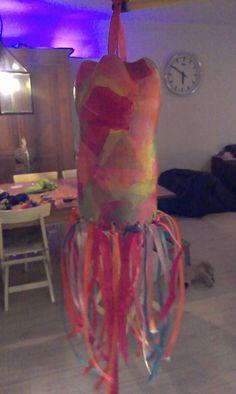 Lampion van plastic fles.