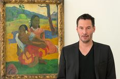 Keanu Reeves, Saturday afternoon, at the Fondation Beyeler near Basel.  feb 8 2015 when you gonna marry? when will you marry? heehee