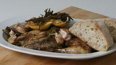 BBC Food - Recipes - Roast pheasant with lemon and rosemary