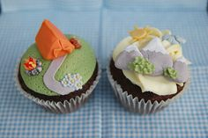 If you can't actually make it camping you can still set up a tent! Mountain Camping Cupcakes