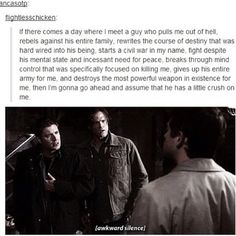 Cas' little (major undying love) crush on Dean is actually really amazing.
