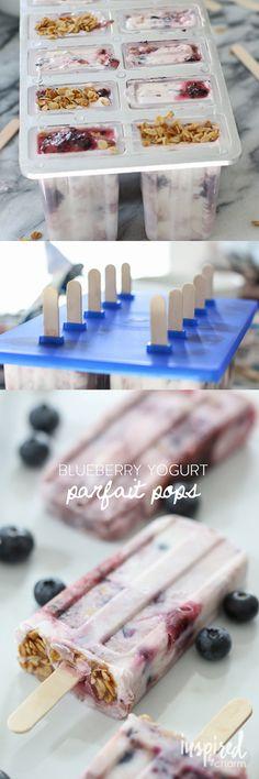 Blue Berry Yogurt Parfait Pops