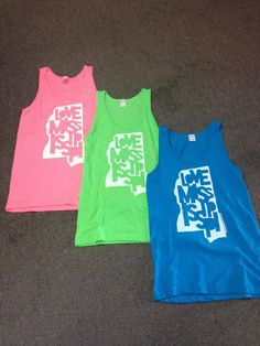 Neon Love Mississippi tanks are in at Harmonie Boutique! $29 each sizes small through XL
