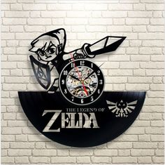 Legend of Zelda Handmade Link Art Vinyl Record Wall Clock | econopick