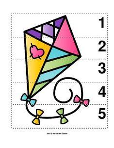 Number Sequence Preschool Picture Puzzle -- Flying Spring Kite from Worksheet Teacher April Preschool, Preschool Worksheets, Preschool Activities, Letter Worksheets, Shapes Worksheet Kindergarten, Shapes Worksheets, Autumn Activities For Kids, Toddler Learning Activities, Nursery Worksheets
