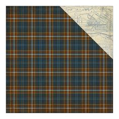 Authentique Paper - Rugged Six Woven Plaid/City Street Map