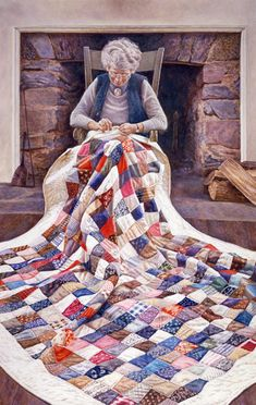 https://es.pinterest.com/zedna/quilting-art-pictures-illustrations-%2B/  The Art of David Armstrong-Watercolor