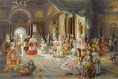La Fete - Cesare Auguste Detti, Italian artist,  (1847- 1914)