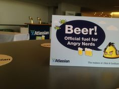 Beer. Official fuel for angry nerds... :-)
