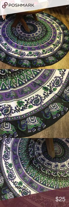 """Elephant Sarong or Tapestry! 54"""" diameter Other"""