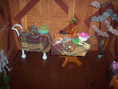 1:6 OOAK dollhouse Halloween party