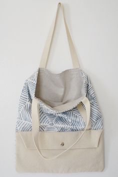 Bluebird Pocket Tote / canvas / organic cotton by Waxmyrtlegoods on Etsy https://www.etsy.com/listing/294022031/bluebird-pocket-tote-canvas-organic