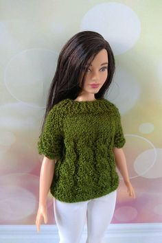 Barbie doll clothes curvy Barbie clothing hand knitted