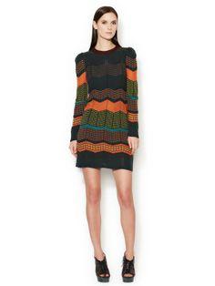 M Missoni - Wool Crewneck Sweater Dress