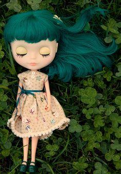 teal hair #blythe #doll