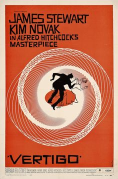 Alfred Hitchcock's Vertigo. A love story doesn't have to be corny. Take things to the extreme.