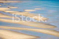 Abstract Nature Background - Sand & Sea, Wainui Estuary, NZ royalty-free stock photo